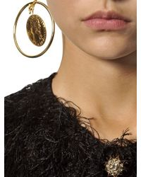 Dolce & Gabbana | Metallic Gold Plated Coin Pendant Earrings | Lyst