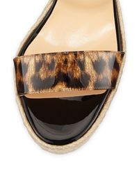 Christian Louboutin - Multicolor Spachia Leopard Red Sole Espadrille - Lyst