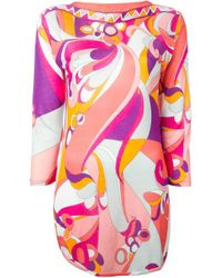 Emilio Pucci - Multicolor Flower And Geometric Print Tunic - Lyst