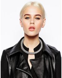 ASOS - Metallic Limited Edition Chain Tube Necklace - Lyst