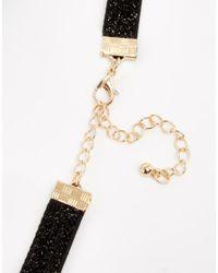 ASOS | Black Jewel Glitter Choker Necklace | Lyst