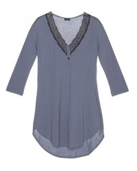 Cosabella | Black Perugia 3/4 Short Sleeve Night Shirt | Lyst