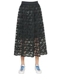 Tsumori Chisato | Black Embroidered Techno Organza Skirt | Lyst