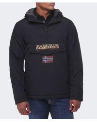 Napapijri | Black Hooded Thermal Rainforest Jacket for Men | Lyst