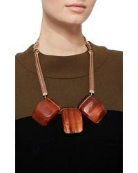 Marni - Red Three Stone Resin Necklace - Lyst