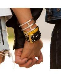 Linea Pelle | Natural Studded Buckle Bracelet | Lyst