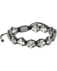 King Baby Studio - Black Macrame Bracelet W/ Alloy Mb Crosses - Lyst