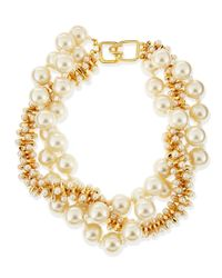 Kenneth Jay Lane | Metallic Multi-strand Simulated Pearl Necklace | Lyst