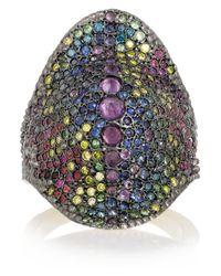 Venyx   Purple Chameleo 9-Karat Gold Multi-Stone Ring   Lyst