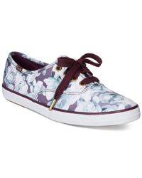 Keds | Purple Women's Limited Edition Taylor Swift Champion Floral Print Sneakers | Lyst