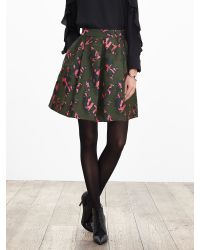 Banana Republic | Multicolor Pieced Jacquard Fit-and-flare Skirt | Lyst