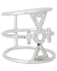 Wendy Nichol | Metallic Sterling Silver Drilled Auspicious Ring | Lyst