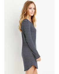Forever 21 | Blue Striped T-shirt Dress | Lyst