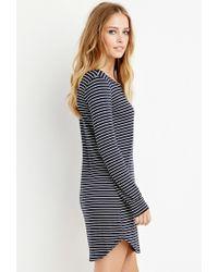 Forever 21 | Blue Striped T-shirt Dress | Lyst