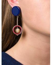 Marni | Blue Sphere Pendant Clip-on Earrings | Lyst