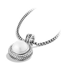 David Yurman | Metallic Cerise Pendant With Diamonds | Lyst