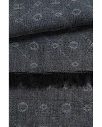 HUGO | Black Scarf In New-wool Blend: 'women-z 444' | Lyst
