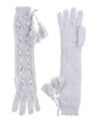 Pepe Jeans - Gray Gloves - Lyst