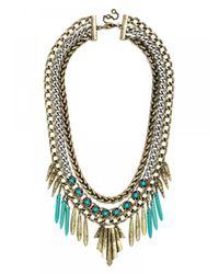 BaubleBar | Multicolor Turquoise Omega Bib | Lyst