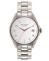 kate spade new york - Metallic 'seaport Grand' Bracelet Watch - Lyst
