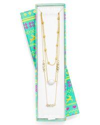 BaubleBar | Metallic 'reine' Layered Necklace | Lyst