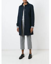 Aspesi - Blue Classic Raincoat - Lyst