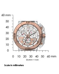 Swiss Legend - Scubador Chrono Black Genuine Leather Silver-tone And Rose-tone Dial for Men - Lyst