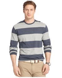 Izod | Blue Long-sleeve Striped T-shirt for Men | Lyst