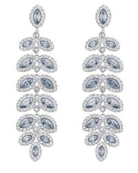 Swarovski | Metallic Baron Crystal Pavé Chandelier Statement Earrings | Lyst