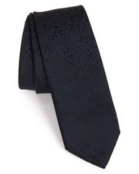 Z Zegna - Blue Paisley Woven Tie for Men - Lyst
