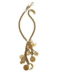 Erickson Beamon | Metallic My Beloved Charm & Chain Necklace - Gold | Lyst