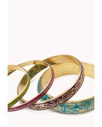 Forever 21 - Multicolor Floral Lace Bangle Set - Lyst