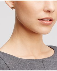 Ann Taylor | Metallic Spiked Crystal Earrings | Lyst