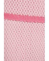 Boutique Moschino | Pink Open Waffle-knit Cotton-blend Mini Skirt | Lyst