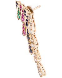 Sabine G | Metallic Emerald And Sapphire Wing Earrings | Lyst