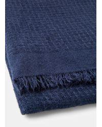 Violeta by Mango - Blue Textured Scarf - Lyst
