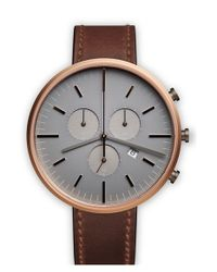 Uniform Wares - Brown Chronograph Leather Strap Watch - Lyst