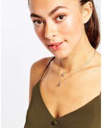 ALDO - Metallic Lemmi Eye Pendant Necklace - Lyst