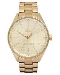 Lacoste - Metallic 'philadelphia' Bracelet Watch - Lyst