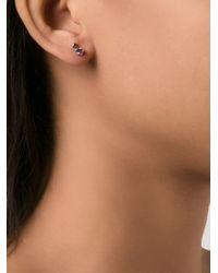 Wwake - Blue Sapphire Stud Earrings - Lyst