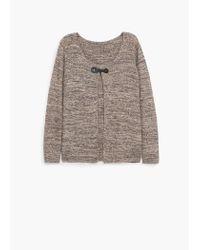 Violeta by Mango | Brown Metallic Cotton Cardigan | Lyst