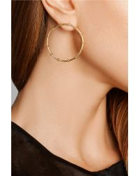 Arme De L'Amour - Metallic Bamboo Gold-plated Hoop Earrings - Lyst