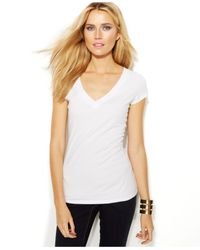 INC International Concepts | White Petite V-neck Tee | Lyst