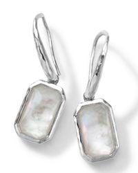 Ippolita - White Rectangle Clear Quartz & Mother-Of-Pearl Earrings - Lyst