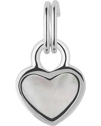 Links of London - Metallic Mini Heart Sterling Silver And Mother-of-pearl Charm - For Women - Lyst