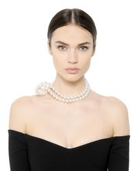 Stella McCartney | White Swarovski Pearl Necklace | Lyst