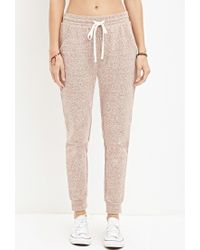 Forever 21 | Brown Marled French Terry Joggers | Lyst