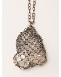 Henson | Metallic Netted Necklace | Lyst
