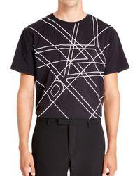 DKNY | Black Logo Grid Printed Crew Neck for Men | Lyst