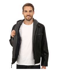Calvin Klein - Black Faux Leather Hoodie for Men - Lyst